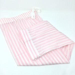 VS Pink & White Striped Pajama Pants